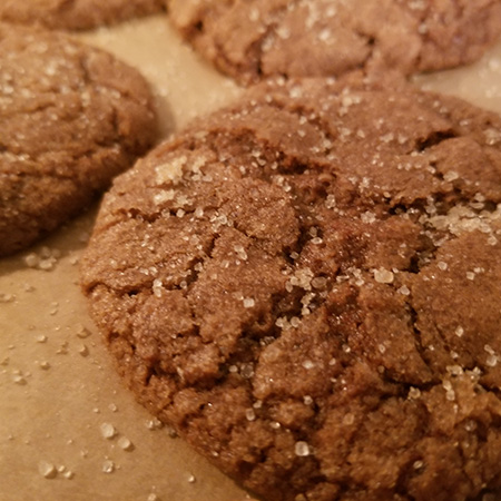 vegan ginger spice cookie