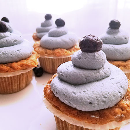 vegan blueberry lemon cupcakes