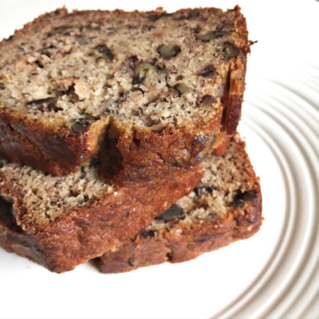 Vegan Dark Chocolate Chip Banana Bread