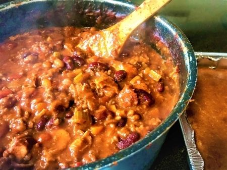 Vegan Smoky Maple 3 Bean Chili