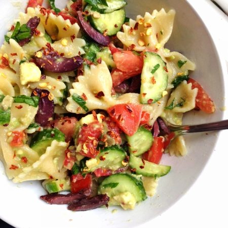 Oil Free Vegetable Pasta Salad