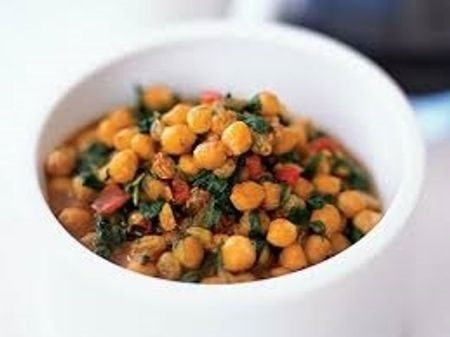 garlic chickpea and spinach soup