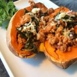 Breakfast stuffed sweet potato