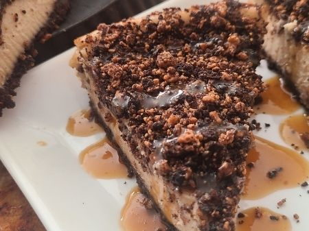 Dark Chocolate Banana Cheesecake Red Miso Caramel